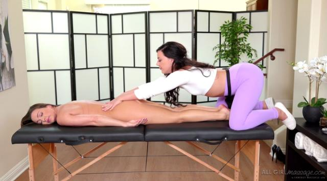 AllGirlMassage – She Just Cant Relax – Abigail Mac And Whitney Wright